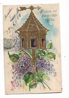 Colombier   ,  Lilas  Et  Autres  Fleurs  (  Gaufrée  Et  Dorée   ) - Fêtes - Voeux