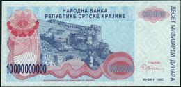CROATIA - 10.000.000.000 Dinara {10 Billion} 1993 {Knin} UNC P. R28 - Croatia