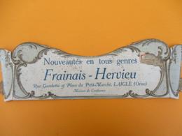 Bandeau Carton  De Support De Courrier/ Frainais-Hervieu/Nouveautés En Tous Genres/ LAIGLE/Orne/Vers 1900-1920   BFPP208 - Plaques Publicitaires