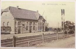 Moorslede Passendale Statie La Gare Avec Train, Trein (Reproduction - Photo) - Moorslede