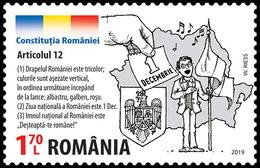 Romania 2019 / The Romanian Constitution / Set Of 9 Stamps - 1948-.... Républiques