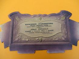 Bandeau Carton  De Support De Courrier/ Albert ESNAULT/Epicerie Parisienne/ GACE/Orne/Vers 1900-1920   BFPP209 - Advertising (Porcelain) Signs