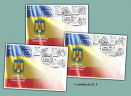 Romania 2019 / The Romanian Constitution / Set Of 3 FDC - 1948-.... Républiques