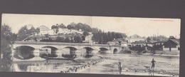 Haute Garonne / 2 Cartes Lettres Panorama (double Format /  : Montrejeau + Luchon - Montréjeau