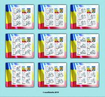 Romania 2019 / The Romanian Constitution / Set Of 9 MS With Labels - 1948-.... Républiques