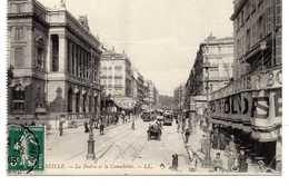 - CPA MARSEILLE (13) - La Bourse Et La Cannebière 1908 (belle Animation) - Editions Lévy - - Canebière, Centre Ville