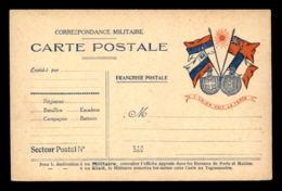 CARTE DE FRANCHISE MILITAIRE - L'UNION FAIT LA FORCE - GUERRE 14/18 - Postmark Collection (Covers)