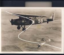 7 1932. US Flying School Rantoul. Parachutists Press Photo - Aviation