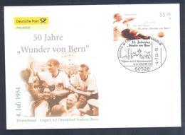 Germany 2004 Cover: Football Fussball Soccer Calcio; FIFA World Cup 1954 Miricle From Bern Wunder; Germany - Uruguay 3:2 - 1954 – Schweiz