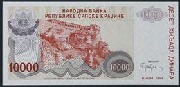 CROATIA - 10.000 Dinara 1994 {Knin} UNC P. R31 - Croatia