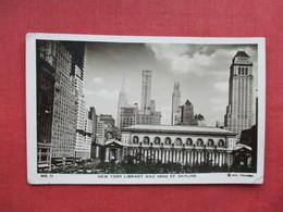 New York > New York City  Library & 42nd Street  RPPC  Ref 3261 - Manhattan