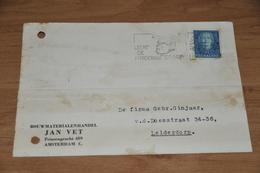 71-   BEDRIJFSKAART, BOUWMATERIALENHANDEL JAN VET - AMSTERDAM - C. - 1949 - Andere