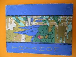 """Papeterie/ Dessus De Boite Carton/ Ancienne  Boite D'Enveloppes / TRIANON /Style """"Art Déco"""" / Vers 1910-1930   BFPP210 - Boîtes"""