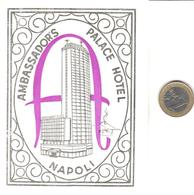 ETIQUETA DE HOTEL  - AMBASSADOR'S PALACE HOTEL  -NAPOLI  -ITALIA - Etiquetas De Hotel