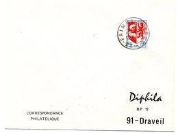 DOUBS - Dépt N° 25 = FAIMBE 1968 = CACHET MANUEL A9 - Postmark Collection (Covers)