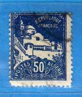 (Us3) ALGERIA - ALGERIE - 1926 - N° Yvert . 47.  Oblitéré .  Vedi Descrizione - Algeria (1924-1962)