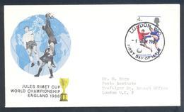 England UK 1966 Cover: Football Fussball Soccer Calcio; FIFA World Cup 1966 England; Jules Rimet Cup; Mundial - 1966 – Inglaterra