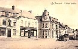 Péruwelz - La Banque Nationale (animée, Commerce Tram Tramway Hippo Tram 1920 Edit. Robette - Péruwelz