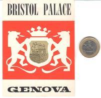 ETIQUETA DE HOTEL  - BRISTOL PALACE  -GENOVA  -ITALIA - Hotel Labels