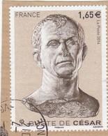 FRANCE BUSTE DE CESAR OBLITERE SUR FRAGMENT 2014 YT 4836  - - France