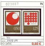 Jugoslawien - Yougoslavie - Jugoslavija - Michel 1418-1419 - ** Mnh Neuf Postfris - 1945-1992 Sozialistische Föderative Republik Jugoslawien