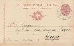Montemesola. 1898. Annullo Grande Cerchio MONTEMESOLA (LECCE), Su Cartolina Postale Completa Di Testo - 1878-00 Humbert I