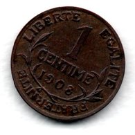 Dupuis  -  1 Centime 1908  -  état  TTB - A. 1 Centime