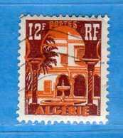 (Us3) ALGERIA - ALGERIE °- 1954-55 - Yvert. N° 313B. Oblitéré .  Vedi Descrizione - Algeria (1924-1962)