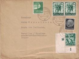 ALLEMAGNE - LETTRE AVEC BEL AFFRANCHISSEMENT POUR LA FRANCE - LE 8-7-1938. - Germany