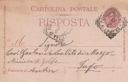 Gravina In Puglia. 1900. Annullo Tondo Riquadrato GRAVINA IN PUGLIA (BARI), Su Cartolina Postale Completa Di Testo - Marcophilie