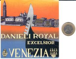 ETIQUETA DE HOTEL  - DANIEL ROYAL EXCELSIOR  -VENEZIA  -ITALIA - Hotel Labels