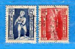 (Us3) ALGERIA - ALGERIE °- 1952 - Yvert. N° 290-291. Oblitéré .  Vedi Descrizione - Algeria (1924-1962)