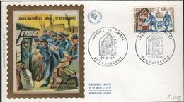 FDC 236 - FRANCE N° 1671 Journée Du Timbre Courbevoie Sur FDC 1971 - FDC