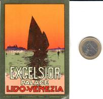 ETIQUETA DE HOTEL  - EXCELSIOR PALACE  -LIDO-VENEZIA  -ITALIA - Hotel Labels