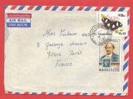 Enveloppe Timbrée ILE MAURICE  ( Mauritus Rs 6 ET Rs 10 ) Port Louis Voir Photo - Maurice (1968-...)