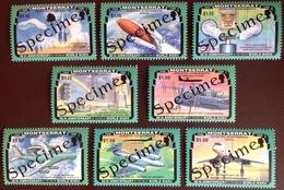 Montserrat 1995 World War II Aviation Aircraft Specimen Set MNH - Montserrat