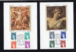 """Lot De 2 / Carte Maximum Premier Jour,Cachet Paris 1978 """" Sabine """" N°1962,1963,1964,1965,1966,1967,1968,1969 - Maximumkarten"""