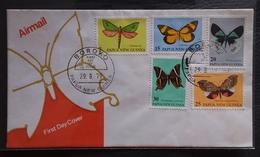 Papua New Guinea 1979 Butterflies FDC(BOROKO Cancellation) - Papouasie-Nouvelle-Guinée
