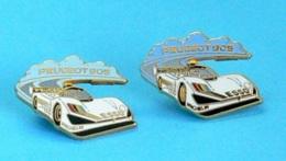 2 PIN'S //  ** 24H DU MANS '93 / PEUGEOT 905 Ev1 / ESSO / MICHELIN / Couleurs Différentes ** . (Arthus Bertrand Paris) - Peugeot
