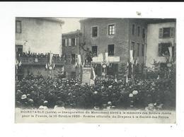 42 Noiretable Inauguration Monument Aux Morts Remise Du Drapeau à La Société Des Poilus  Neuve TBE - Noiretable