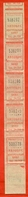 Russia 1990.(ex- USSR). City Moscow. Strip Of Eight Tickets. - Europa