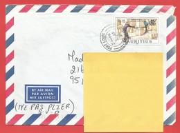 Enveloppe Timbrée ILE MAURICE  ( Mauritus Rs 15  ) Port Louis Voir Photo - Maurice (1968-...)