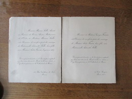 REIMS 14 RUE VAUTHIER LE NOIR LE 14 FEVRIER 1933 MADEMOISELLE ANTOINETTE SALLE AVEC MONSIEUR ANDRE FRAISSE INGENIEUR - Mariage