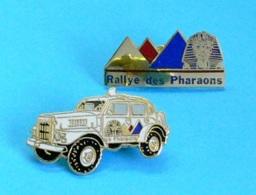 2 PIN'S //  ** RALLYE-RAID DES PHARAONS ** . (Démons & Merveilles) - Rallye