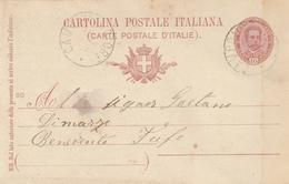 Campomaggiore. 1899. Annullo Grande Cerchio CAMPOMAGGIORE,  Su Cartolina Postale Con Testo - 1878-00 Humbert I