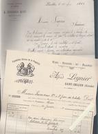 Vins Du Médoc / Pécresse à Pauillac 1885 Et Alfred Leynier à Saint émilion 1908  / Autographes - France