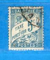 (Us3) ALGERIA - ALGERIE °- TAXE -1926-28 - Yvert. N° 1A. Oblitéré .  Vedi Descrizione - Algeria (1924-1962)
