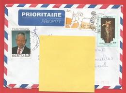 Enveloppe Timbrée ILE MAURICE  ( Mauritus Rs 10 Et Rs 25 + SYDNEY 2000 ) Port Louis Voir Photo - Maurice (1968-...)