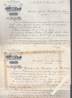 Vins Du Médoc / Chateau Biston Brillette, Moulis, U.Daurat / 2 Lettres Autographes, Conseils Viticoles - France