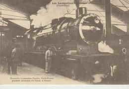 C.P. - LES LOCOMOTIVES FRANÇAISES - OUEST ETAT - NOUVELLE LOCOMOTIVE PACIFIC - PARIS - ROUEN - CECODI - REPRODUCTION - Eisenbahnen